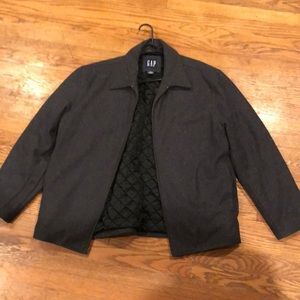 Men's wool zipper coat